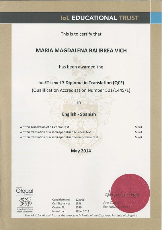 Diploma In Translation