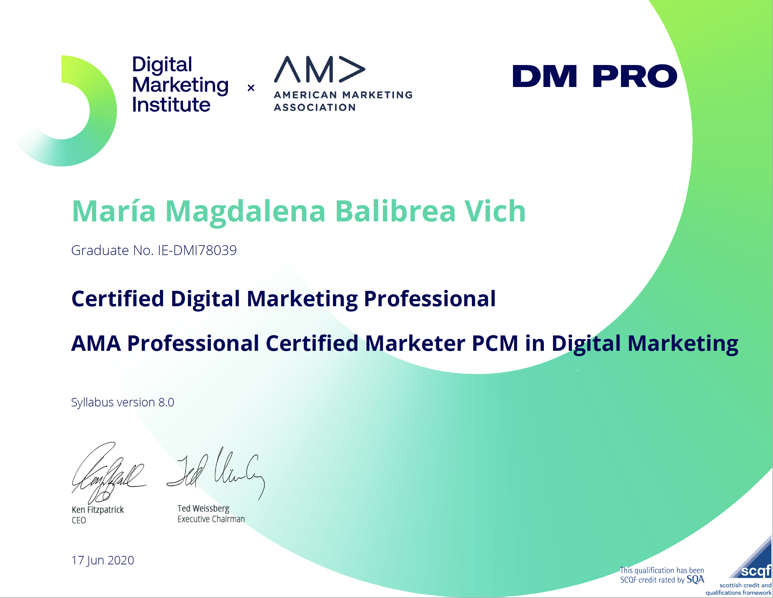 Certified DM Pro - Digital Marketing Institute